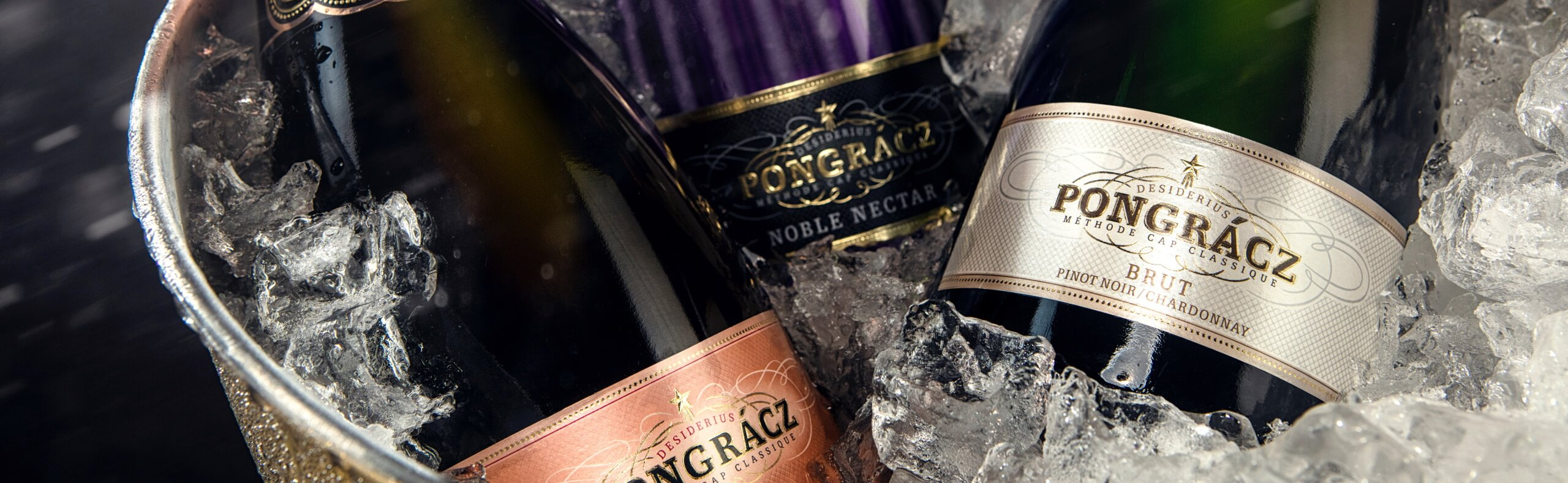Pongracz range of MCC on ice ready to be served chilled